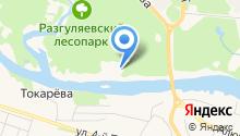 Лучезарный на карте