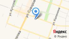 Антилопа на карте