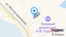Автостоянка на ул. Алексеева на карте