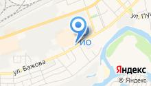 Автостоянка на ул. Бажова на карте
