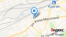 Автостоянка на ул. 1 Мая на карте