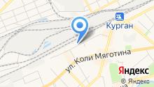Автостоянка на ул. Радионова на карте