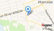 Исетское ДРСУ-3 на карте