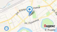 Автостоянка на ул. Рихарда Зорге на карте