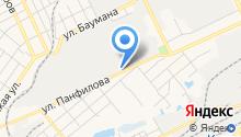 Автостоянка на ул. Панфилова на карте
