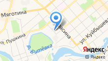 Аппарат общественной палаты Курганской области, ГКУ на карте