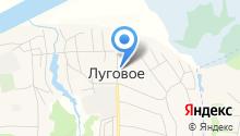 Луговская сельская библиотека на карте