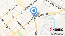 Автостоянка на ул. Куйбышева на карте