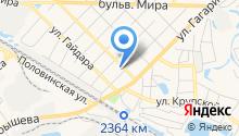 Taxi на карте