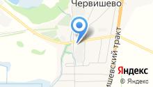 Продуктовый магазин на ул. Строителей на карте