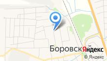 Боровская взрослая библиотека на карте