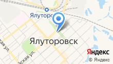 Управление пенсионного фонда в г. Ялуторовске и в Ялуторовском районе Тюменской области на карте