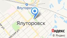 Управление пенсионного фонда в г. Ялуторовске и Ялуторовском районе Тюменской области на карте