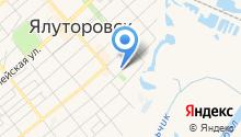 Отдел военного комиссариата Тюменской области по г. Ялуторовск и Ялуторовскому району на карте