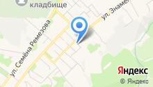 Шиномонтажная мастерская на ул. Знаменского на карте