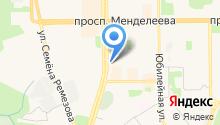Сеть ювелирных салонов на карте