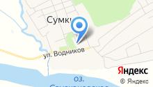Баня на ул. Гагарина на карте