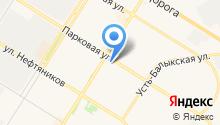 Обь на карте