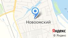 Новоомское почтовое отделение на карте
