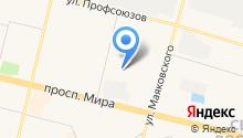 Испытательный учебно-тренировочный полигон на карте