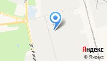 Автокомплекс на Базовой на карте