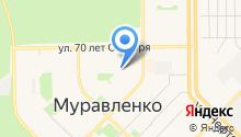 Отдел вневедомственной охраны по г. Муравленко на карте