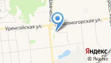 Ноябрьский Визовый Центр на карте