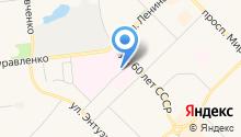 Ноябрьская центральная городская больница на карте