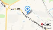 Анева на карте