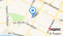 Магазин тканей и швейной фурнитуры на карте