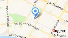 Сеть магазинов тканей и швейной фурнитуры на карте