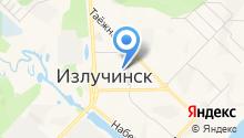 Администрация п.г.т. Излучинска на карте
