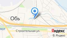 Управление пенсионного фонда РФ в г. Оби на карте