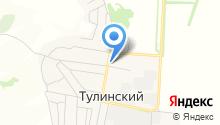 Продуктовый магазин на Центральной (пос. Тулинский) на карте