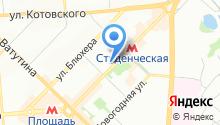 Спортивно-оздоровительный центр на карте