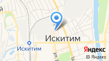 Служба гражданской защиты населения г. Искитима по Новосибирской области на карте