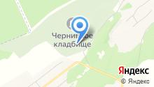 Черницкое кладбище на карте