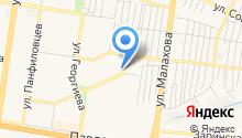 Магазин стоковой и секонд-хенд одежды на карте