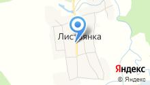 Листвянское на карте