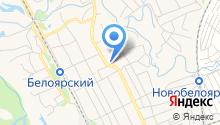 Белоярский на карте
