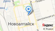 Детская библиотека г. Новоалтайска на карте