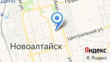 Новоалтайское на карте