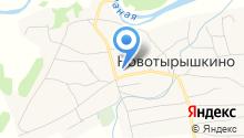 Новотырышкинская средняя общеобразовательная школа на карте
