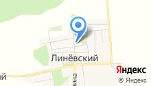 Линёвский на карте