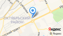 На Суворова на карте