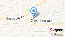 Управление пенсионного фонда РФ в Смоленском районе на карте