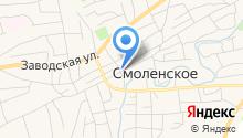 Управление социальной защиты населения Смоленского района на карте