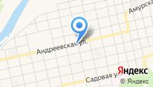 Автомойка на Андреевской на карте