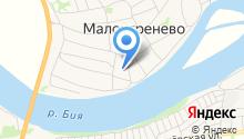 Малоугренёвская средняя общеобразовательная школа на карте