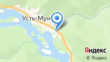 Коттедж в Усть-Мунах на карте